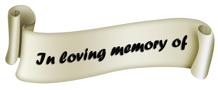 Scroll - In loving memory